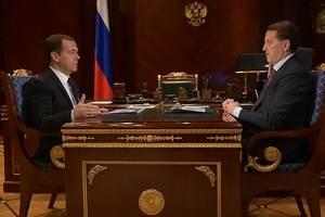 Дмитрий Медведев обсудил вопросы сельскохозяйственной отрасли с губернатором Воронежской области