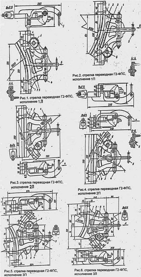 Стрелки переводные Г2-ФПС для подвесного полосового пути