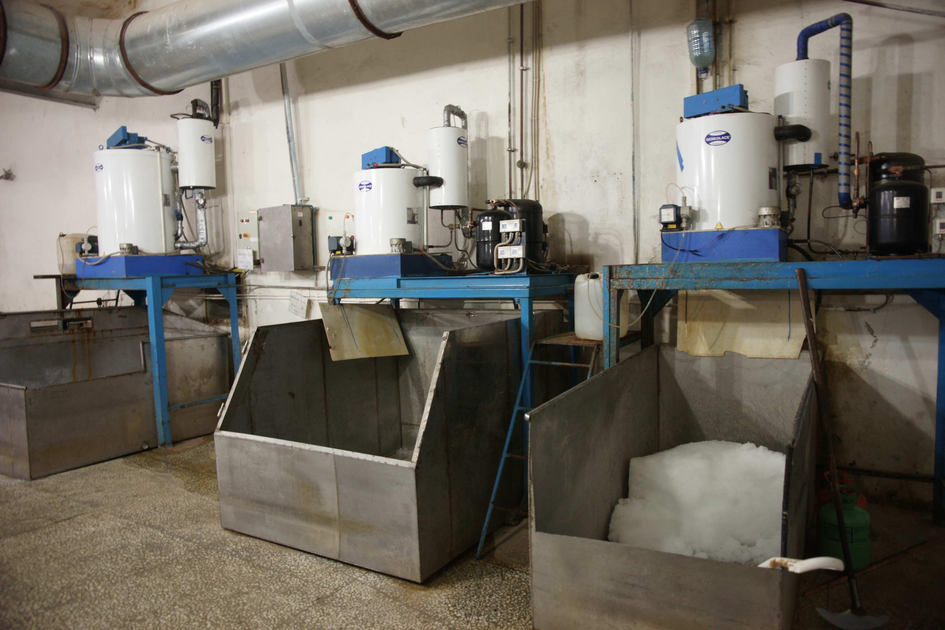 Льдогенератор чешуйчатого льда и холод. установка фреон 3т-24 часа