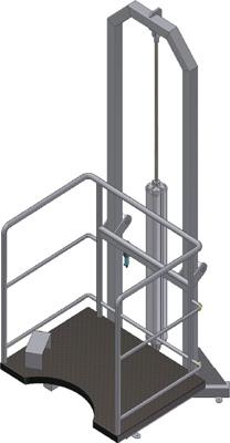 Пневматические подъемно-опускные площадки для распиловки на полутуши