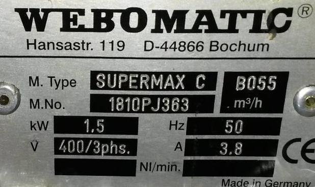 вакуум-упаковочная, вакуумный упаковщик WEBOMATIC SuperMax