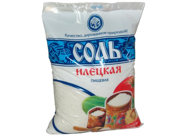 Илецк соль 1п в фас по 1 кг в меш по 50 кг.