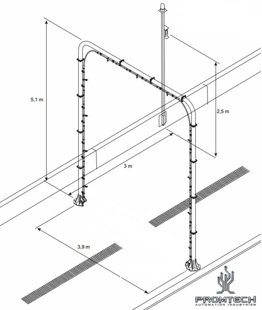 Дезинфекционный барьер для автотранспорта ДЕЗМАСТЕР DBА-15