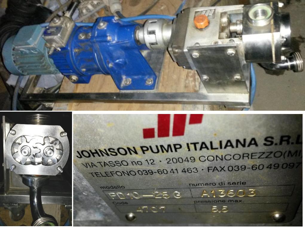 насос шестеренчатый PD10-25G johnson pump italiana s.r.l