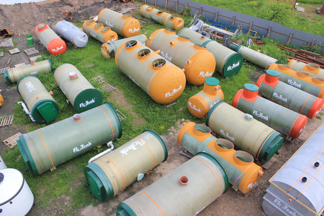 Очистка стоков, жироотделители, стеклопластиковые резервуары