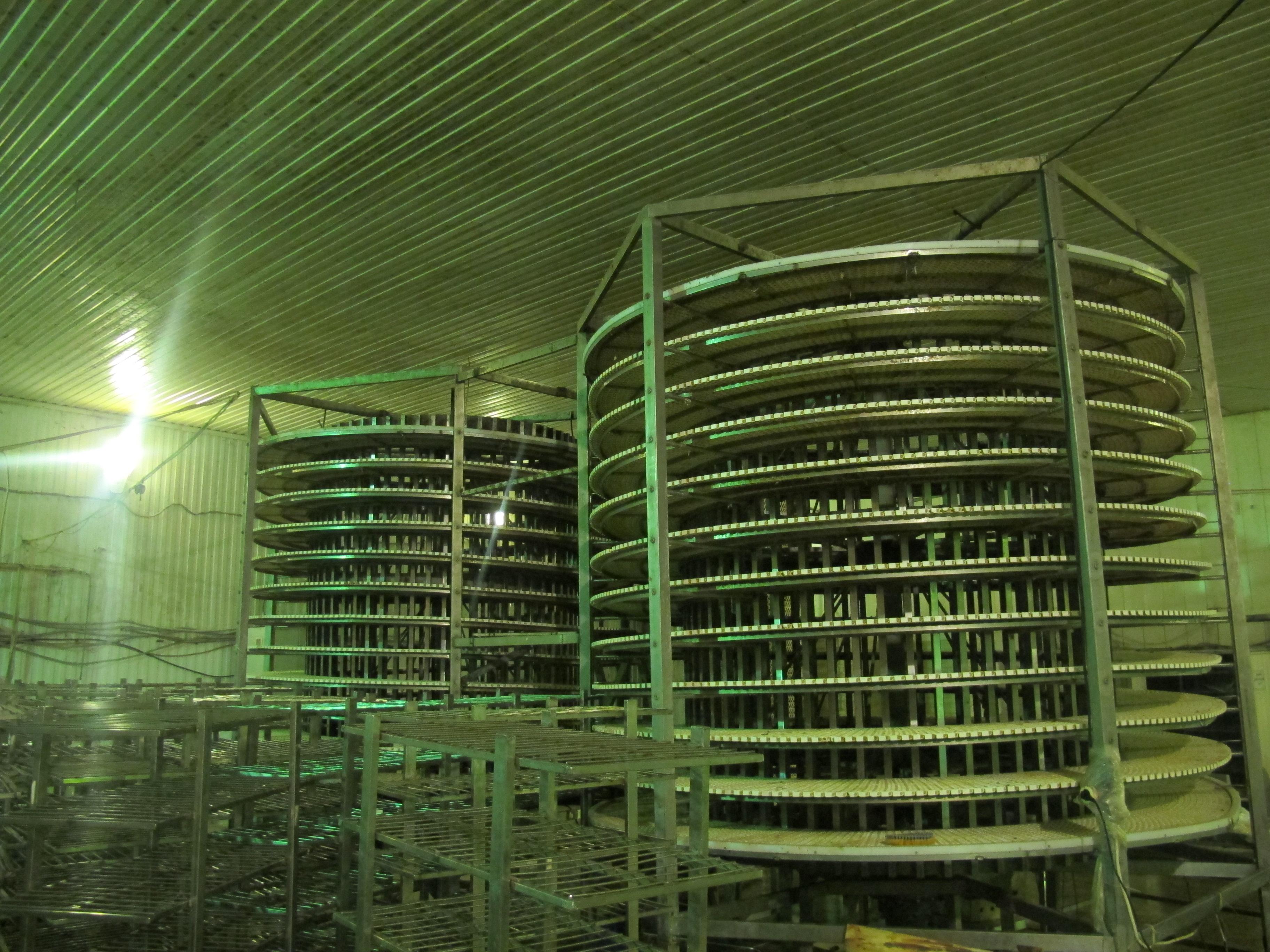 Спиральный конвейер для стекания рассола