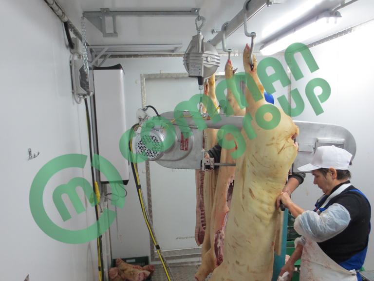 Бойни для свиней. Контейнерные цеха мясопереработки.