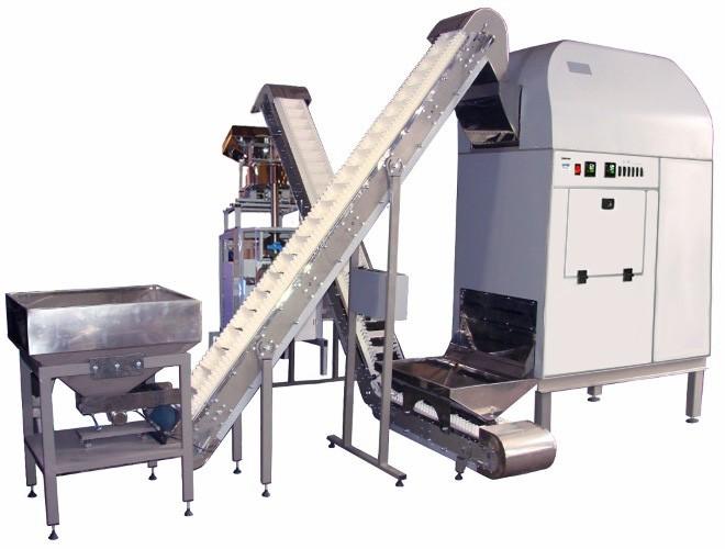 Автоматическая мини линия жарки, дозирования и упаковки Бриз