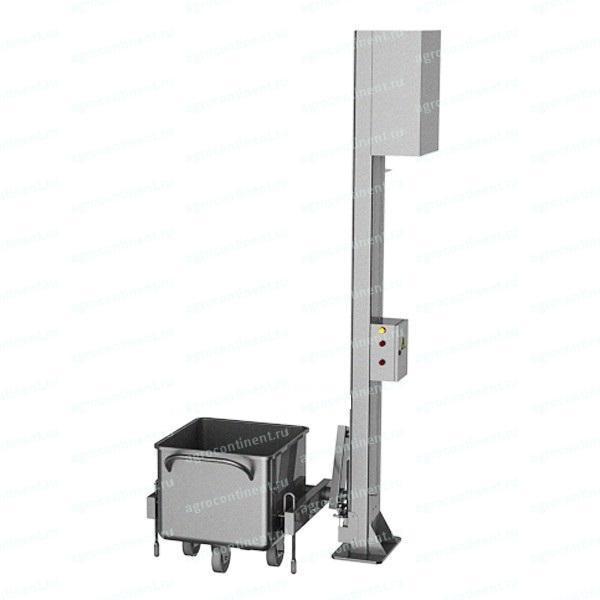 Подъемно опрокидывающее устройство для чан тележек