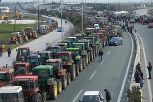 Греческие фермеры отправились маршем на Афины