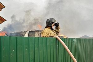 В селе Давыдовском Владимирской области загорелась ферма, более сотни свиней задохнулись в дыму