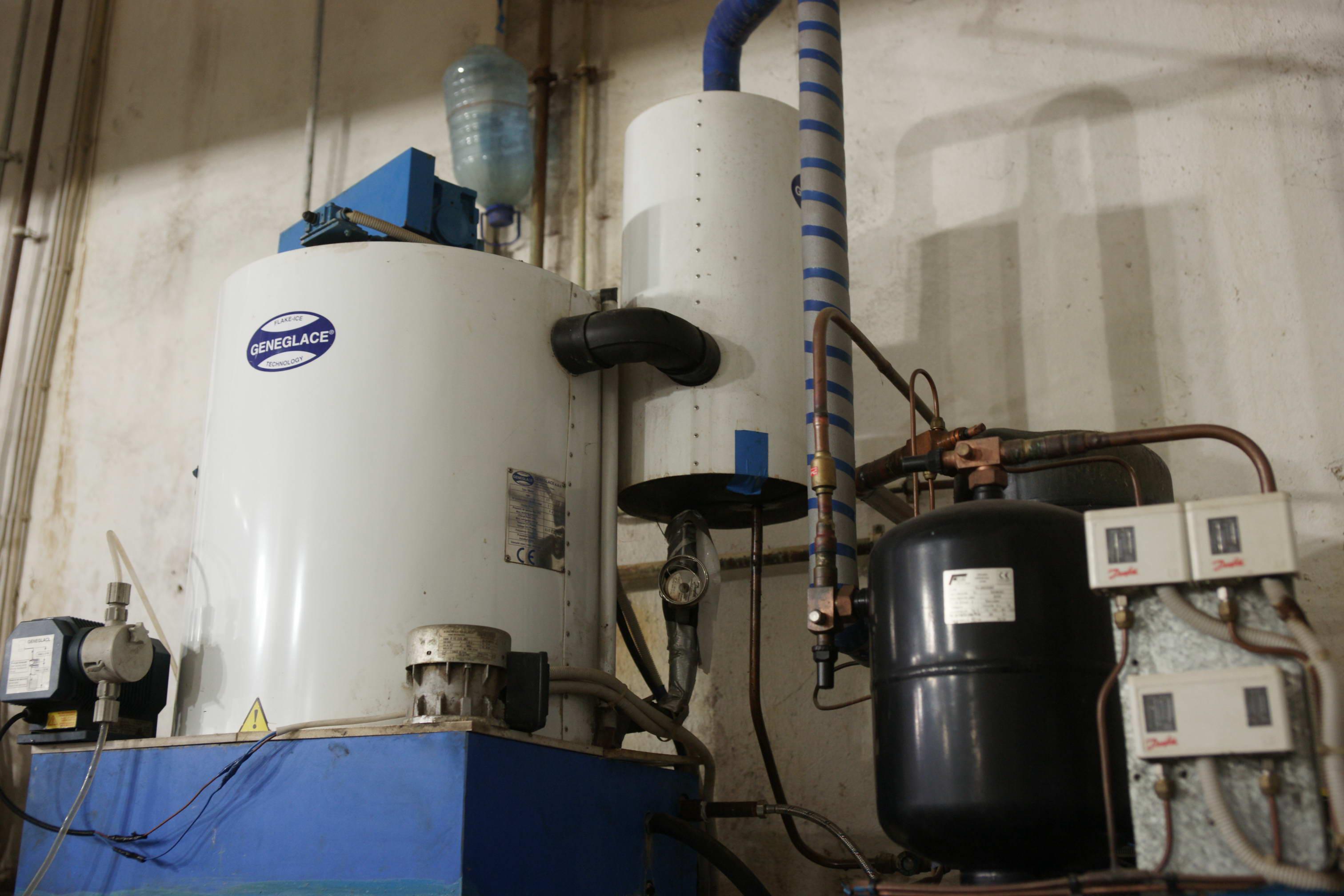 Льдогенератор чешуйчатого льда и холод. установка фреон 6т-24 часа